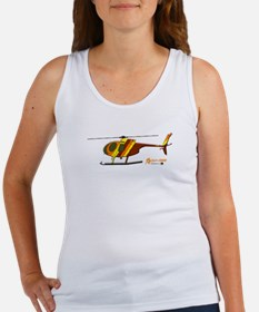 Hughes 500D Helicopter. Women's Tank Top