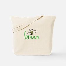bee green Tote Bag