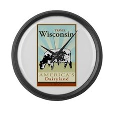 Travel Wisconsin Large Wall Clock