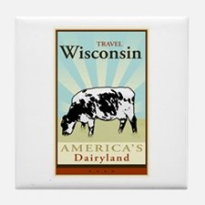 Travel Wisconsin Tile Coaster