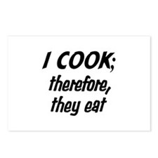 I Cook; They Eat Postcards (Package of 8)