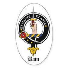 Bain Clan Badge Crest Oval Decal