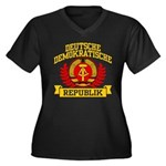 East Germany Coat of Arms Women's Plus Size V-Neck