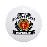 East Germany Coat of Arms Ornament (Round)
