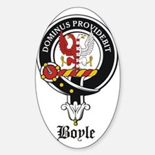 Boyle Clan Badge Crest Oval Decal