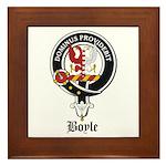 Boyle Clan Badge Crest Framed Tile