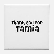 Thank God For Tamia Tile Coaster