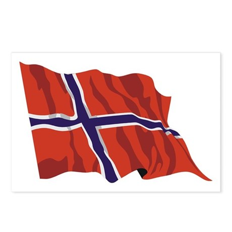 Norway Flag / Norwegian Flag Postcards (Package of