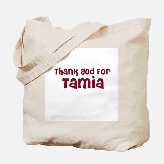 Thank God For Tamia Tote Bag