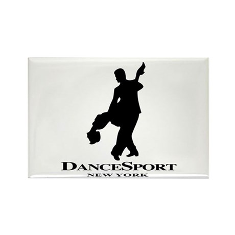 Couple Silhoutte DS NY Rectangle Magnet (100 pack)