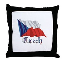 Czech Republic Flag Throw Pillow