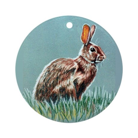 Bunny Ornament (Round)