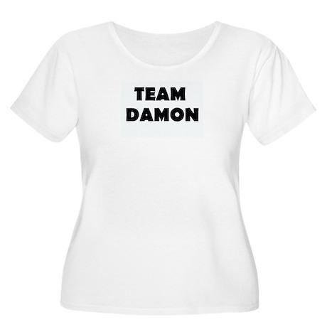TEAM DAMON Women's Plus Size Scoop Neck T-Shirt