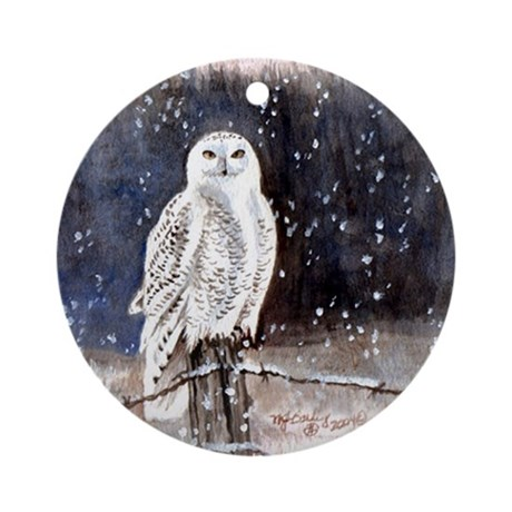 Snowy Owl Ornament (Round)
