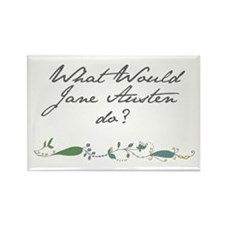 Rectangle Magnet - What Would Jane Austen Do?