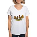 Sebright Golden Bantams Women's V-Neck T-Shirt