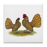 Sebright Golden Bantams Tile Coaster