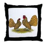 Sebright Golden Bantams Throw Pillow
