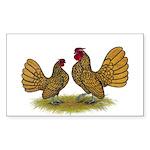 Sebright Golden Bantams Sticker (Rectangle 10 pk)