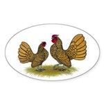Sebright Golden Bantams Sticker (Oval 50 pk)