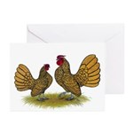 Sebright Golden Bantams Greeting Cards (Pk of 20)