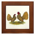 Sebright Golden Bantams Framed Tile