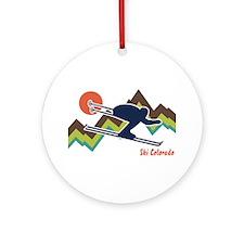 Ski Colorado Ornament (Round)