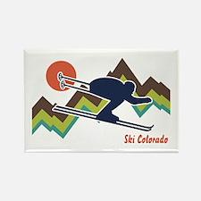 Ski Colorado Rectangle Magnet