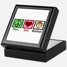 Peace Love Monkeys Keepsake Box