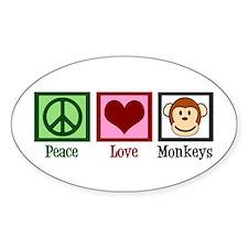 Peace Love Monkeys Decal
