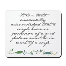 Mousepad - Truth Universally Acknowledged