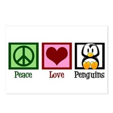 Peace Love Penguins Postcards (Package of 8)