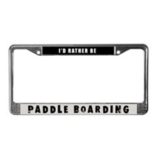 Paddle Boarding License Plate Frame