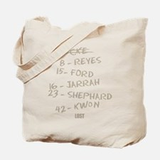 Numbers and Names Tote Bag
