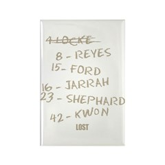 Numbers and Names Rectangle Magnet