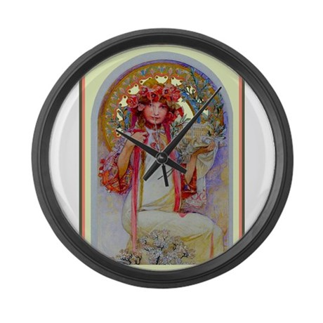 Alphonse Mucha Large Wall Clock