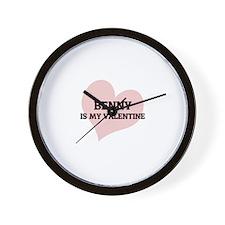 Benny Is My Valentine Wall Clock