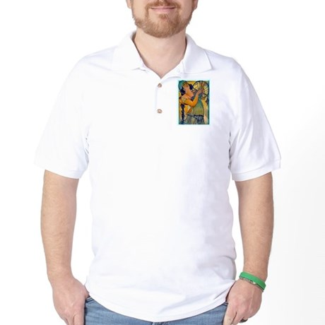 Alphonse Mucha Golf Shirt