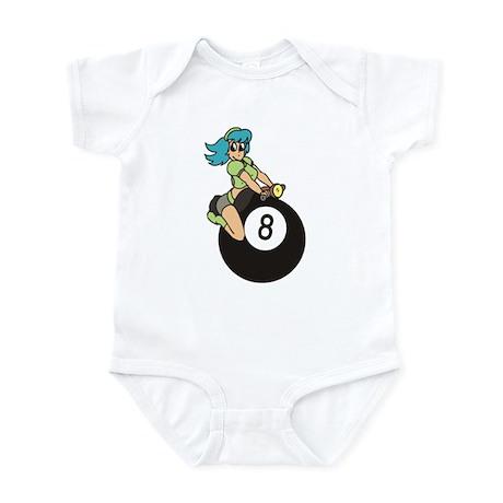 8 ball logo Infant Bodysuit