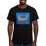 Lynwood California Men's Fitted T-Shirt (dark)