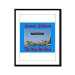 Lynwood California Framed Panel Print