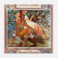 Alphonse Mucha Tile Coaster