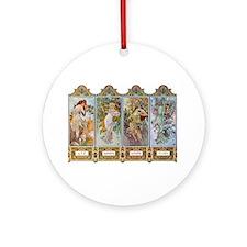 Alphonse Mucha Ornament (Round)