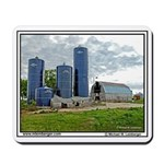 Barn, Silos, Farm, Iowa, Mousepad