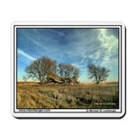 Barn fallen in, Farm scene, Iowa, Mousepad