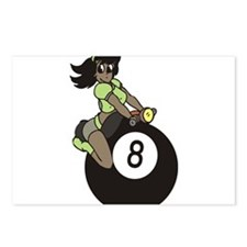 Girl on 8 Ball 2 Postcards (Package of 8)