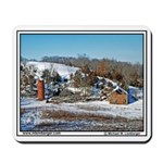 farm Buildings Falling in, Iowa, Snow, Mousepad