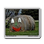 Face on Round Hay Bale, Ammana, Iowa, Mousepad