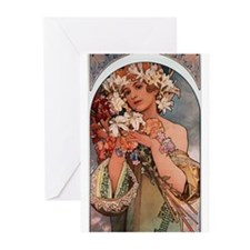 Alphonse Mucha Greeting Cards (Pk of 20)