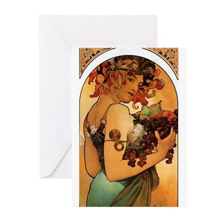 Alphonse Mucha Greeting Cards (Pk of 10)